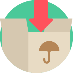 arrow pointing in a box icon